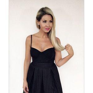 🆕 Black Adjustable Strap Corset Style Bodysuit
